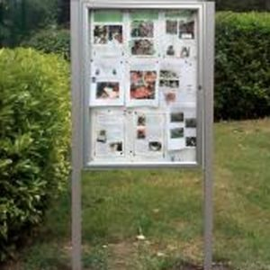 Lockable Post Mounted Noticeboards