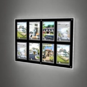 LED Wall Mount Displays (Internally Illuminated)