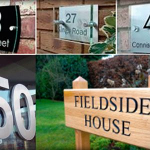 House Names & Numbers (Choice Of Finishes)