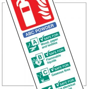 Fire Extinguisher Identification Panels
