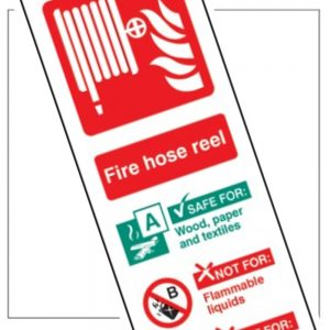 All Fire Equipment And Fire Hose Signs