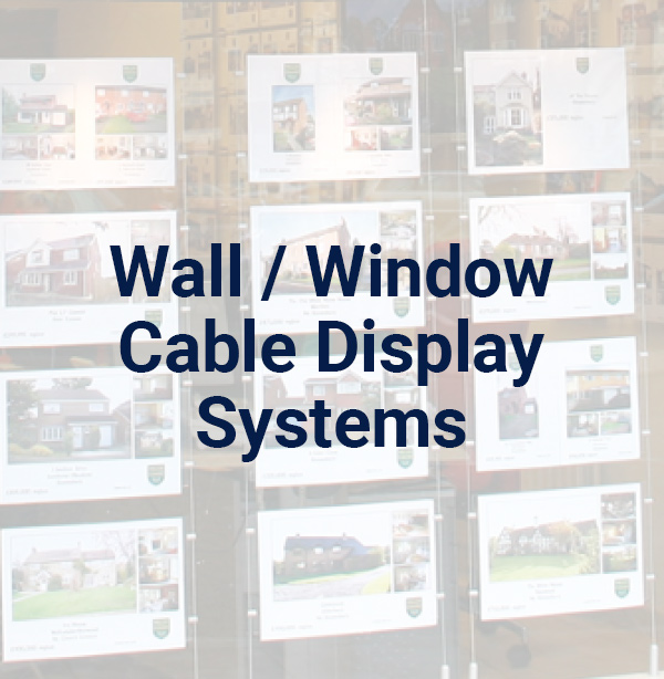 Wall / Window Cable Display Systems