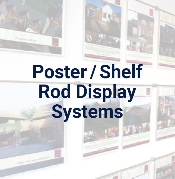 Poster / Shelf Rod Display Systems