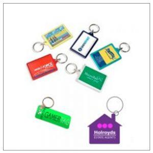 Coloured Plastic Keyrings